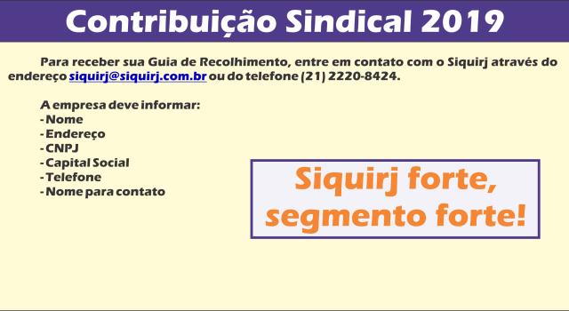 Contribuicao Sindical 2019
